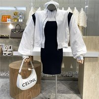 Women's Jackets Brand Original Design 2021 Contrast Color Patchwork Long Sleeve Thin Coat Versatile Casual Sports Baseball Wear Jacket
