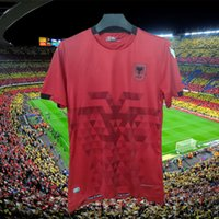 2021 2022 ألبانيا المنزل الأحمر لكرة القدم جيرسي 21/22 قمصان كرة القدم البيضاء الثالثة بعيدا أسود قصير الأكمام الوطني لكرة القدم