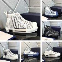 Tasarımcı Ayakkabı B22 Eğimli Yüksek ve Düşük erkek Sneakers B23 Dunks Teknik Tuval Deri kadın Rahat Ayakkabı Arı En Kaliteli Lüks 35-46 Boyutu