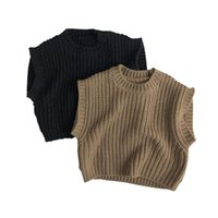 Pullover Boys Winter Clothes Baby Sweater Vest Fall Knitwear For Toddler Girls Cotton Kids Children