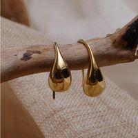 Earings Fashion Jewelry Small Cute Simple Vintage Piercing Earrings Women Elegant Luxury Designer Earring Yellow Gold Stud