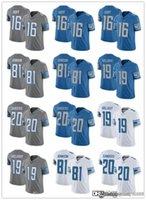 2021 جيرسي الرجال الشباب النساء 20 باري ساندرز 19 كيني جولاداي 16 جاريد جوف 81 جونسون كرة القدم الفانيلة الزرقاء ذرة