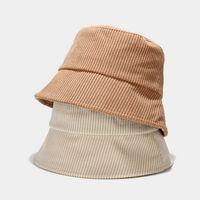 Corduroy 5 Colori solidi Semplici secchio tappo con cavo di velveteen coppie pescatore marea cappello primavera caduta inverno sole all'aperto di mare lla569