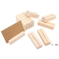 newWood Card Holder Name Place Card Photo Menu Holder Number Clip Stand Desk Accessories party Wedding Decoration EWC7141