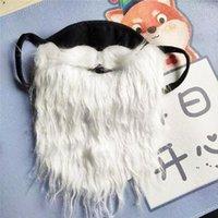Партийные маски Санта-Клаус Борода Хэллоуин смешные бороды белые рождественские усы пыли доказательство хлопка маска ZZE8637