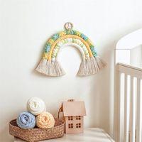 Decorative Objects & Figurines Nordic Kids Nursery Room Decor Felt Rainbow Cloud Hanging Scandinavian Handmade Children Baby Girl Wall