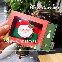 Christmas Children Digital Camera Santa Claus 32 Million Dual Birthday Gift Toy Mini Printers