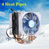 Pin Dual Fan CPU Cooler Heat Sink Quiet Cooling For Intel LGA775 1150 1155 AMD AM2 AM2+ AM3 AM4 Ryzen Pasta Termica Fans & Coolings