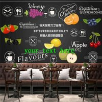 Wallpapers Fruit Vegetable Juice Snack Advertising Restaurant Wallpaper Supermarket Industrial Decor Background Wall Papers Mural 3D