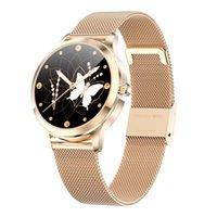Lady Women Smart Watch SmartWatch para Android iOS Electronics Clock Fitness Tracker Strap de acero inoxidable Relojes Deporte