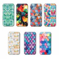 Geometry Print Leather Wallet Cases For Iphone 13 Pro Max 12 Mini 11 XR XS X 8 7 6 Phone13 Diamond Pattern Flip Cover Credit ID Card Slot Holder Suck Magnetic Closure Pouch