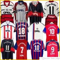 94 95 96 97 98 99 99 Bayern München Retro-Trikots 00 01 02 Final Eleber Zickle Effenberg Elber Pizarro Scholl Matthaus Klinsmann Football Hemd Uniformen