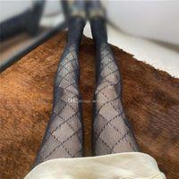 검은 섹시한 여자 스타킹 긴 스타킹 편지 인쇄 여성 순 양말 매력 숙녀 나이트 클럽 파티 팬티 스타킹