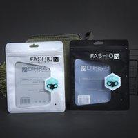 جودة عالية شفافة الانجليزية قناع التعبئة حقيبة البلاستيك الذاتي ختم أقنعة مخصصة أكياس تغليف أبيض أسود 15x18 سنتيمتر مجانية دي إتش إل