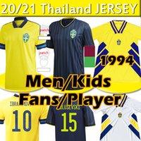 2021 스웨덴 축구 유니폼 팬 선수 버전 Ibrahimovic Kulusevski Berg Forsberg Larsson Tankovic Isak Claesson 남자 키즈 축구 셔츠 20 21 태국