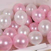 20 / 50шт 10 дюймов жемчуга розовый щенок белые латексные воздушные шары свадьба годовщины на день Святого Валентина день рождения декор декор гелиевых глобал