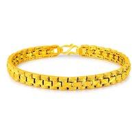 Tennis Geometric 24K Gold Chain Bracelets Bangles High Quality Elegant Woman Wrap Jewelry Party Anniversary Gift