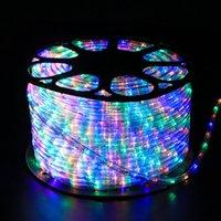 Lâmpada de tubo de arco-íris LED 110V 220V fada néon string luz RGB Garland Iluminação ao ar livre com US / UE Plug para Decoração do Partido do Festival de Xmas