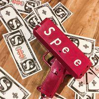 5 couleurs pulvérisez de l'argent pistolet 19 * 17cm Billets de banque de banque de fonds de caisse amusante jouets de décompression pour la fête-cadeau