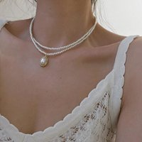 Chains Vintage Baroque Simulation Pearl Multi Layer Pendant Choker Necklaces For Women Girls Fashion Female Retro Necklace Jewelry Gift