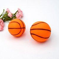 الحيوانات الأليفة الصوت كرة السلة الكلب لعبة الكرة سوبر لطيف كرة السلة الكرتون أفخم لعب قطرها 65 ملليمتر كرات WY1338