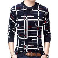 GAAJ Designer Kazak Ekose Erkekler Kazak Elbise Kalın Sonbahar Kış Sıcak Jersey Örme Kazak Erkek Giyim Slim Fit Triko