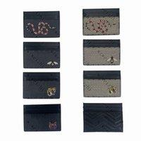 Натуральная кожа мода мужчины женские держатели карт кофе змеиный тигр пчелы FOX повседневная кредитная карта ID Держатель черный ампин ультра тонкий кошелек пакетная сумка с подарочной коробкой