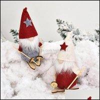 Decorations Festive Party Supplies & Gardenski Gnome Doll Christmas Tree Pendant Elf Santa Kids Xmas Gifts Handmade Swedish Tomte Ornaments