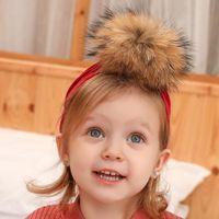 Caps & Hats Ruoshui Born Pompom Hat Warm Fur For Girls Kids Hair Accessories Soft Beanies Infant Skullies Gorras Headwear