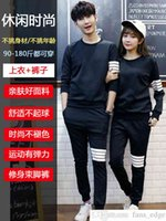Spring and Autumn Couple Wear Spring Wear 2021 New All-Match Trendy Korean Style Fairy TikTok Sweater Sports Suit for Men