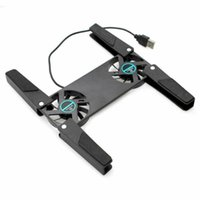 Hayranları Katlanabilir Dizüstü Soğutma Soğutucu Pad Standı USB Dizüstü Ahtapot Çift Fan Pedleri için Powered