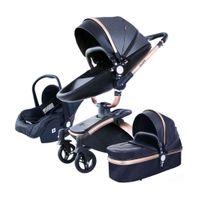 Tasarımcı Lüks Arabası Ücretsiz ve Hızlı Kargo PU Deri 3 1 Bebek Yüksek Manzara Taşınabilir Arabası Aulon Pram ON