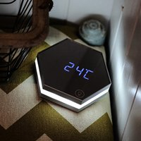 Atualizar espelho de moda e led despertador controle de toque de controle LED luzes noturnas exibir desktop eletrônico mesa digital relógios vaidade 199 v2