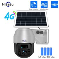Hiseeu 4G SIM Card Solar IP Camera 1080P PTZ WiFi CCTV Cameras Outdoor 4pcs Rechargeable Battery Panel Smart Security Wireless