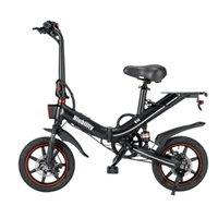 Bicyclette électrique pliant de 14 pouces Noir Vélo de vélo de vélo E-vélo 400W Moteur à roues Fournit une charge de 120 kg de pente de 30 degrés Lithium Ion Battery Vélos de montagne