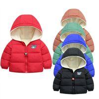 JCHAO Kids Jackets Girls Boys Пальто зимой Верхняя одежда Пальто Случайные Детская Одежда Одежда Осень Зимние Вельхает Теплые вершины для 2-7 лет
