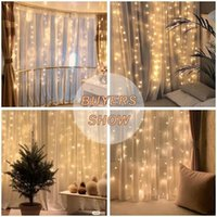 Strings Festoon LED Curtains Waterfall Fairy Light USB Garland String Lights For Home Living Room Window Year Christmas Decoration