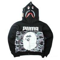 SJ Top Design APE Camo Jackets Cabeça de tubarão Impressão Masculina Alta Qualidade Casual Outdoor Men 's hoodies