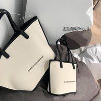HBP большой емкости сумочка высокая ценная сумка высокой ценной бумаги женщин 2021 европейская и американская мода простые универсальные повседневные однополые сумки холста
