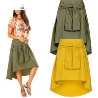 Skirt Women Long A-Line British Style Woolen Plaid Skirts Kilt Winter Vintage Wool Tartan Umbrella