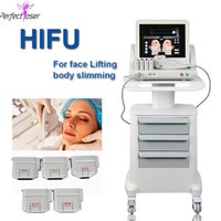 HIFU ultrasound machine 5 cartridges High Intensity Focused therapy skin tighten facelift body slimming Beauty Equipment