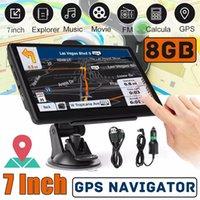 HD 7 polegadas carro Bluetooth GPS Navegação sem fio Avin Truck Navigator 800MHz 8GB + RAM256MB Transmissor FM MP4 MP3 3D Tts Mapas