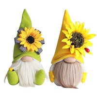 Mother's Day Gnomes Party Gift-Spring Flowers Dwarf Home Decoration Handmade Faceless Plush Doll Bee Festival Desktop Ornament