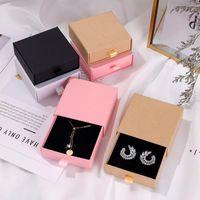 Boîtes de bijoux cadeaux de la fête des mères emballage Boîte Bague Collier Boucles d'oreilles emballages Boîte de tiroir Boîte à bijoux 9 * 9 * 3.2cm OWA4470