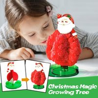 Christmas Decorations Magic Flowering Tree Growing Blooming Crystal Mini Children Toy Xmas Gift