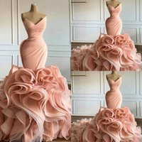 2021 Ruffles trompete vestidos de noite sweetheart saias camadas longas vestidos de baile elegante vestido de celebridade tapete vermelho