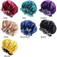Ev Ipek Gece Şapka Çift Yan Giyim Kadın Kafa Kapak Uyku Kap Satin Bonnet Güzel Saç için - Uyandırma Mükemmel Günlük Fabrika Satış ZWL223