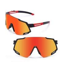 편광 된 스포츠 자전거 선글라스 windproof 사이클링 고글 근시적 인 안경 여성 남성 자전거 태양 안경 포장 상자와 렌즈 선글라스