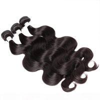 Brasilianische Haarbündel 3 Bündel Body Wave Jungfrau Remy Human Haare Schussverlängerungen Doppelscharf Natürliche Farbe 3 stücke Bella Haar