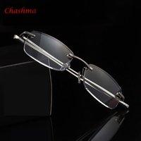 Lunettes de lecture de luxe pour femmes Cadre en aluminium Hommes Presbyopia Eyewear Italie Design Oculos de Grau Sunglasses